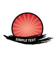 Red Brush Banner Badge and Labels vector image