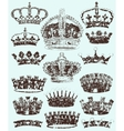 Royal Crowns cracked style vector image