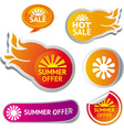 Set of hot summer sale stickers - vector image