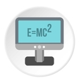 Theory of relativity formula icon flat style vector image