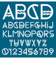 Paper font and numbers vector image