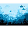 Ocean underwater world vector image