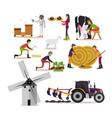 set of farming concept design elements in vector image vector image