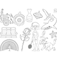 Set of cartoon images vector image