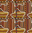 Seamless with geometric stars in the African style vector image vector image