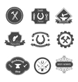 Blacksmith labels collection icons set vector image