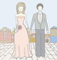 Brideandgroomcity vector image