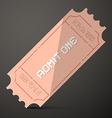 Admit One Ticket vector image vector image