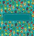 pattern fruits and berries vector image vector image
