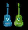 Guitars scribbled in marker vector image