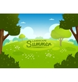 Beautiful summer landscape vector image