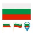 Bulgaria country flag vector image
