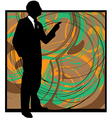 Businessman in suit silhouette vector image