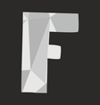 F alphabet letter isolated on black background vector image