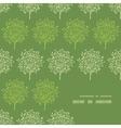 Green trees stripes corner frame pattern vector image