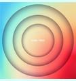 layered circles banner vector image