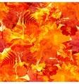Orange autumn leaves seamless pattern vector image