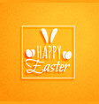 Orange background for happy easter holiday vector image