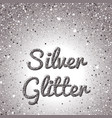 silver glitter background pink golden sparkling vector image