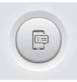 SMS Notification Icon Grey Button Design vector image vector image