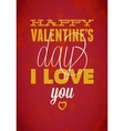 Vintage Saint Valentines typography  Can be used vector image vector image