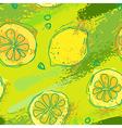 lemon pattern vector image
