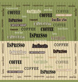 coffee wallpaper green brown vector image