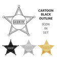 sheriff icon cartoon singe western icon from the vector image
