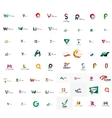 abstract company logo mega collection type vector image