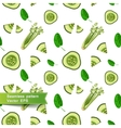 Seamless pattern with slices of vegetables Cut vector image