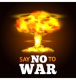 Nuclear Explosion Poster vector image vector image
