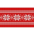 Nordic knitting pattern vector image vector image
