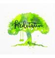 Beauty natural spa tree vector image vector image