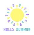 Sun icon Sun colorful rays Cute cartoon sun vector image
