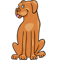 Boxer dog cartoon vector image
