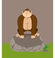 cartoon gorilla vector image
