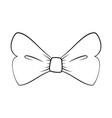 decorative bow icon vector image