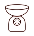 gram scale kitchen isolated icon vector image
