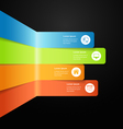 Modern full color info graphic bar vector image