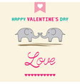 Romantic card79 vector image
