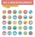 SEO WEB DEVELOPMENT vector image