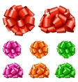 Set Collection of Colorful Festive Ribbon Bows vector image