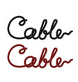 set of colored cables vector image