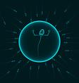 Sperm winner blue vector image