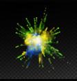vibrant paint blast vector image