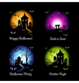 Halloween banners for your design vector image vector image