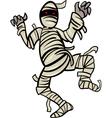 mummy monster cartoon vector image
