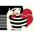 Fashion woman in style pop art vector image