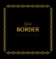 golden square border vector image