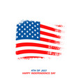 happy usa independence day card vector image